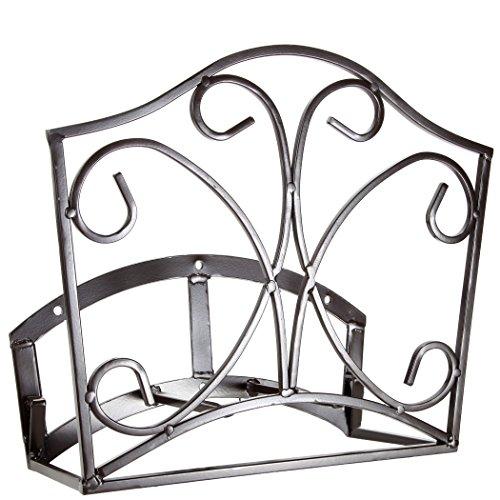 Garden Hose Holder Decorative Bronze Metal Wall Mount Hanger Rack Including Spray Nozzle