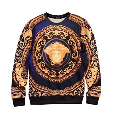Zero Unisex Top Hipster Punk Rock Galaxy Exaggerating Sweater T Shirts (M ( US Size S ), NO.4)