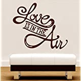 Decal Style Love Is In The Air Wall Sticker Large Size-25*21 Inch
