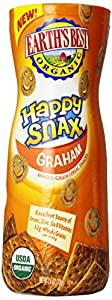Earth's Best Organic Happy Snax Crackers, Graham, 2.6 Ounce