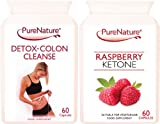 Pure Raspberry Ketone and Detox-Colon Cleanse Combo to Support Weight Loss & Slimming 2 x 60 Capsules Made in the UK Suitable for Vegetarians. FREE UK Delivery by Distributed By Be-Beautiful-Online