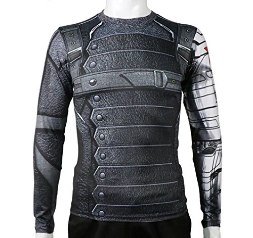 Civil War Winter Soldier Shirt Long Sleeve Shirt