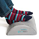 Rest My Sole - Foot Rest Cushion for Under Desk - Ergonomic Footrest Your Feet Will Love at Home or Office - Resilient Comfort Foam, Non-Slip Lower Surface and Low Profile for Optimum Leg Clearance (Color: Gray)