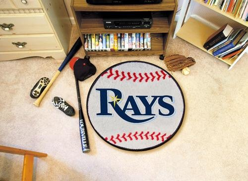 Fanmats 06350 Mlb - Tampa Bay Rays Baseball Rug front-771413