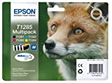 Epson Durabrite T1285 Fox Genuine Multipack Ink Cartridges