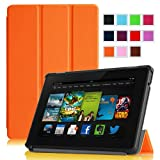 "Fintie Amazon All New Kindle Fire HD 7"" SmartShell Case Cover Ultra Slim Lightweight with Auto Sleep / Wake Feature - Orange (will only fit All New Kindle Fire HD 7 2nd Generation 2013 Model)"
