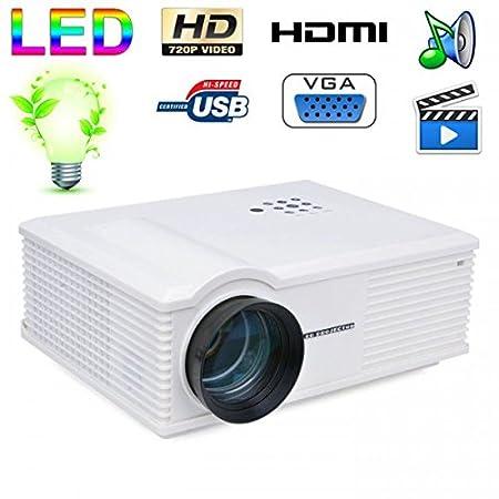 Vidéoprojecteur LED 170W 3000 Lumens Full HD 1080P Home cinema Blanc