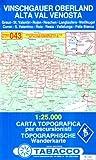 Vinschgauer Oberland: Wanderkarte Tabacco 043. 1:25 000 (Cartes Topograh)
