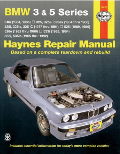 Bmw 3 And 5 Series 1982-1992 (Haynes Manuals) front-467045