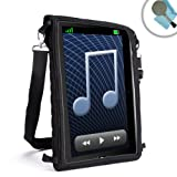 USA Gear Shoulder Tablet Case & In-Car Viewing Cover w/ Capacitive Screen Protector - Fits Linx 10 inch / Samsung Galaxy 4 , 3 , 2 , 1 / Apple iPad Air 2 , 1 / Lenovo A10-70 / iropro / Yones / it / Polotab & More Tablets up to 11
