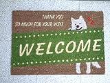 かわいい玄関マット102Y welcome!お客様をお出迎え!新築祝いや引越しのお祝いに!お店にも!