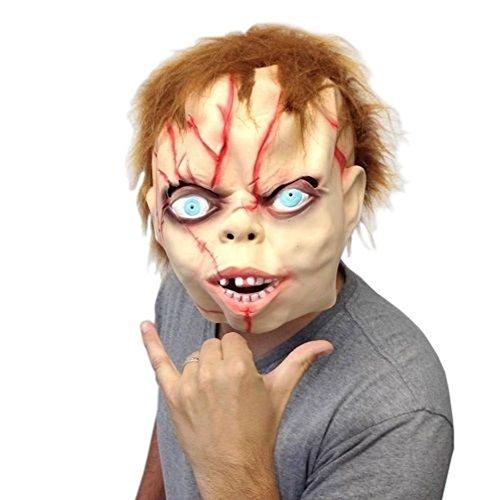 [Mememall Fashion Chucky Mask Super Creepy- Off the Wall Toys One Size] (Super Nerd Costume)