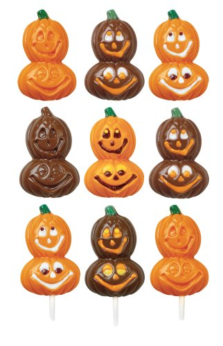 Wilton Smiling Pumpkins Lollipop Mold- Discontinued By Manufacturer