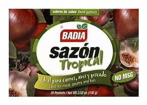 Badia, Sazon Tropical No Msg 20Pk, 3.52-Ounce (12 Pack)