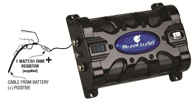 Amazon.com: Planet Audio PC10F 10 Farad Capacitor with Digital Voltage