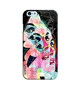 Omnam Girl Face Effect Printed Designer Back Case Apple iPhone 6/6S