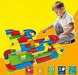Wishtime 玉転がし 73pcs 入門セット 子ども 玉の道 組立て 積み木 おもちゃ 幼児 知育ラーニングトイ レゴブロックに合わせ