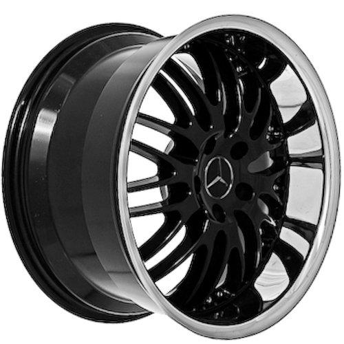 18 inch mercedes benz wheels rims black set of 4 car for Mercedes benz 18 inch rims