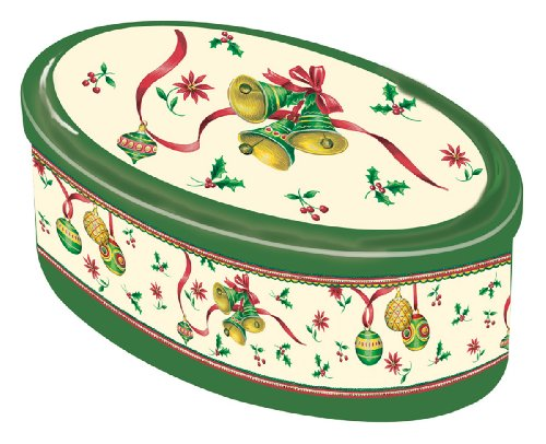 Ideal Home Range Oval Candy Tin, Christmas Bells