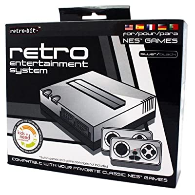 Retro Bit Nintendo NES Entertainment System (Silver/Black)