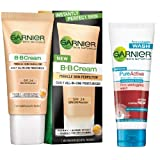 Garnier BB Cream, 40ml with Pure Active Face Wash, 50ml Free