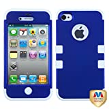 Product B00A70TK6S - Product title MYBAT IPHONE4AVHPCTUFFSO026NP Premium TUFF Case for iPhone 4 - 1 Pack - Retail Packaging - Titanium Dark Blue/Solid White