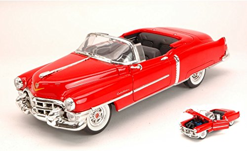 CADILLAC ELDORADO CONVERTIBLE 1953 RED 1:24 Welly Auto Stradali modello modellino die cast