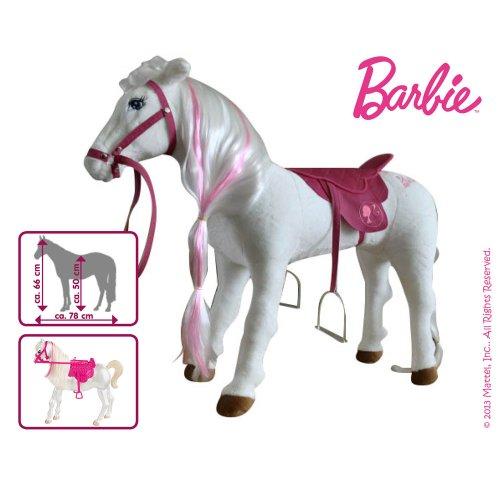 Mattel Barbie Pferd MAJESTY mit Sound weiss-pink