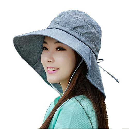 Jf sunshine womens cotton wide brim summer outdoor cycling for Womens fishing hat