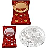 Gold Plated GL Pooja Thali Set,Silver Plated Royal Pooja Thali Set With Ganesh Laksmi And Silver Plated Swastika...