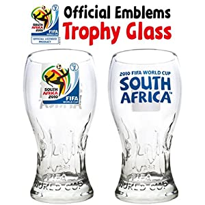 Unique Trophy Glass with 2010 FIFA World Cup Emblems - SET of 4