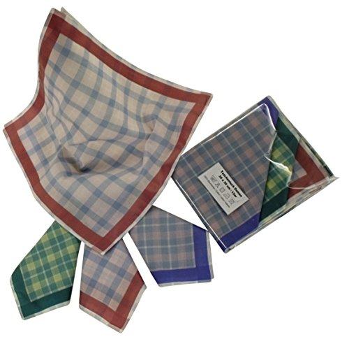 6-Damen-Stoff-Taschentcher-verschiedene-Farben-und-Designs