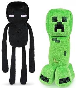 "Minecraft 7"" Plush Enderman & Creeper Set Of 2 by Jazwares, Inc."