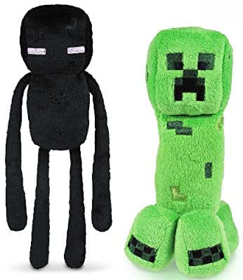 "Minecraft 7"" Plush Enderman & Creeper Set Of 2 by Jazwares, Inc."