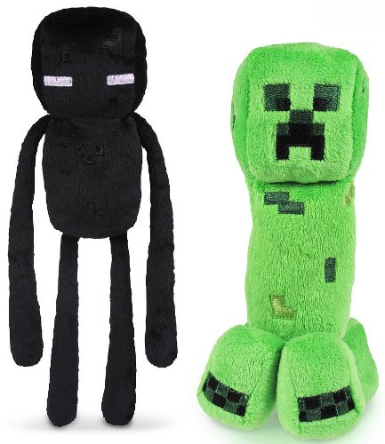 "Minecraft 7"" Plush Enderman & Creeper Set Of 2"