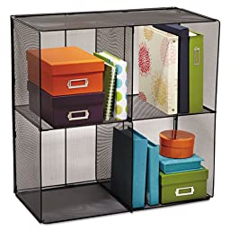 Safco Onyx Mesh Cube, 28-1/2w x 14-1/2d x 28-1/2h, Black