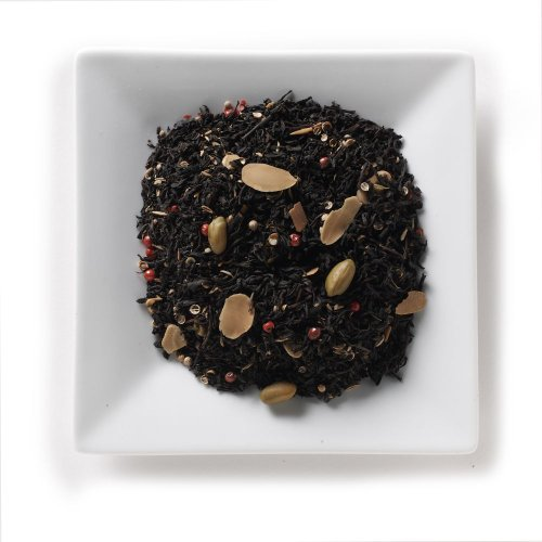 Mahamosa Pistachio Almond Spice Tea 4 Oz - Loose Leaf Flavored Black Tea Blend (With Pistachios, Cumin, Sliced Almonds, Coriander, Pink Peppercorns, Flavoring)