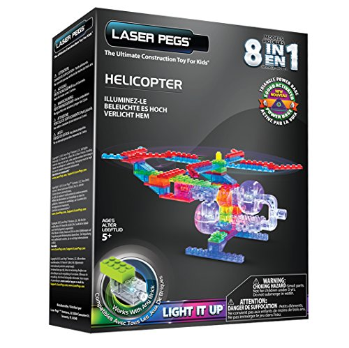 Laser Pegs Helicopter Building Set