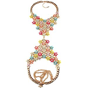 HolyLove Body Chain Resin Flower Necklace&Pendant Maxi Collier Femme Statement Jewelry BN201631