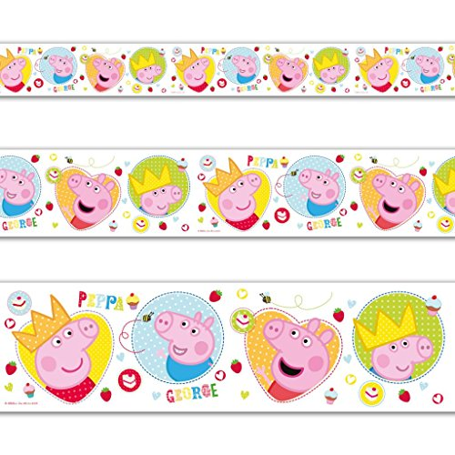 Cheap 3.65m Cute Peppa Pig George Birthday Party Foil Banner Decoration