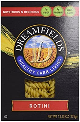 Dreamfields Pasta Healthy Carb Living, Rotini, 13.25-Ounce Boxes (Pack of 6) from Dreamfields Pasta