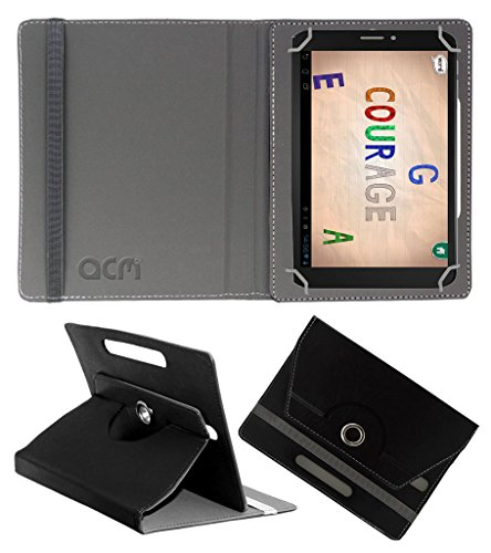 Acm Rotating 360° Leather Flip Case For Pinig Kids Smart 6-8 Tablet Cover Stand Black  available at amazon for Rs.149