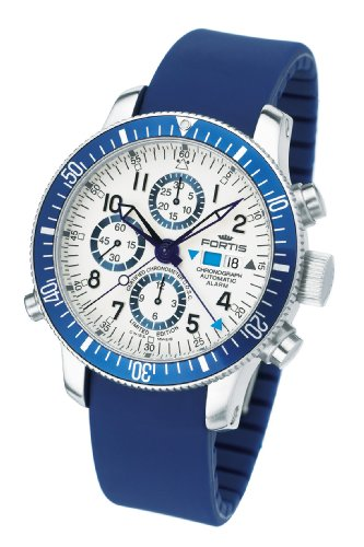 Fortis Men's 641.10.92 Si.05 B-42 Diver Swiss Automatic Chronograpgh Alarm Rubber Strap Watch