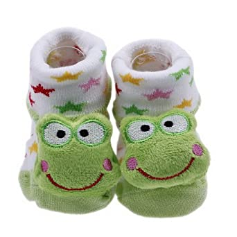 Knitting Pattern For Frog Slippers : Amazon.com: JTC Baby Indoor Floor Warm Sock Toddler Boot ...