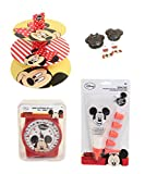 Disney Baking Cooking Presentation Set Kitchen Scales Cake Molds Stand & Decoration Set (Minnie & Mickey Mouse)