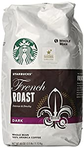 Starbucks French Roast Whole Bean Coffee, 40-Ounce (2 Pack)