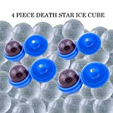 Death Star Ice Cube Trays Star Wars Mold Ice N Sphere Silicone Balls for Parties Baking Chocolate Cold Drinks (4 Piece Set)