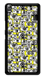 "Humor Gang Lots Of Cameras Printed Designer Mobile Back Cover For ""Lenovo A7000 - Lenovo A7000 Plus - Lenovo A7000 Turbo - Lenovo k3 note"" (3D, Glossy, Premium Quality Snap On Case)"