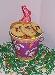 Scott\'s Cakes Cookie Combos Special - Pecan and Almond 1lb. Purple Bunny Pail