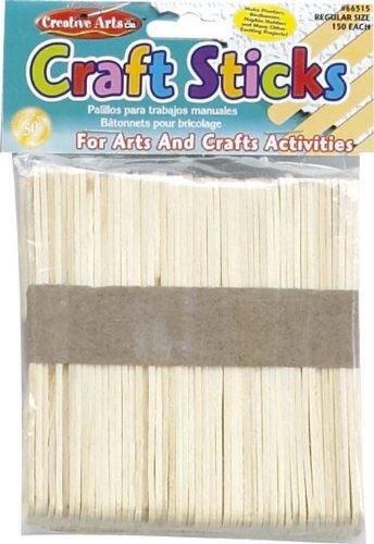 Creative Arts By Charles Leonard Craft Sticks, Regular Size, Natural Color, 4-1/2 X 3/8 Inch, 150/Bag (66515) front-705845